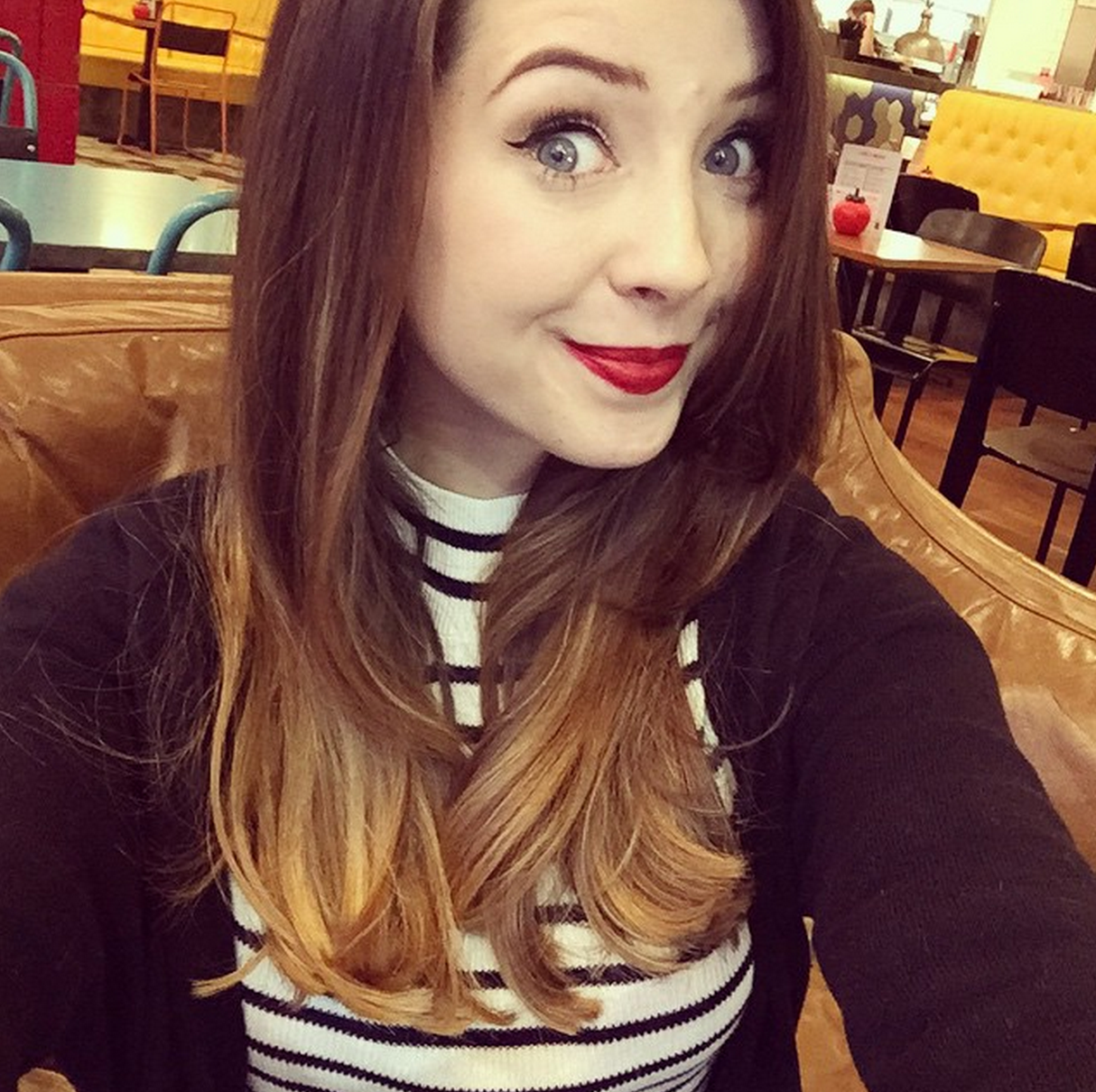 Zoellas had a pretty dramatic haircut and were totally obsessed with it