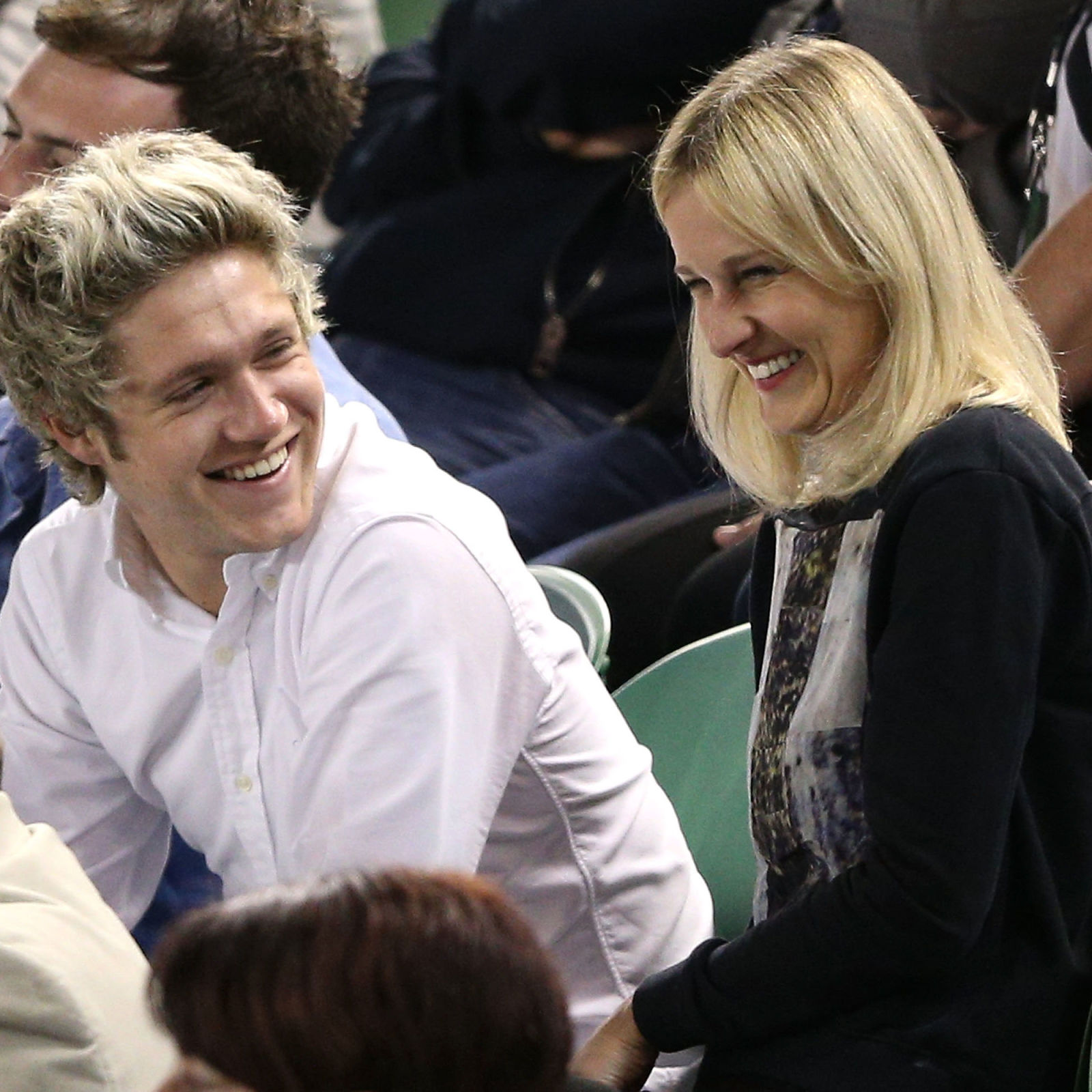 Niall Horan's too sexy for his shirt at the Australian Open