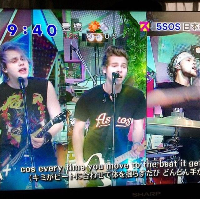 5. The time they were on Japanese telly and it looked like a rainbow vomited all over errywhurr