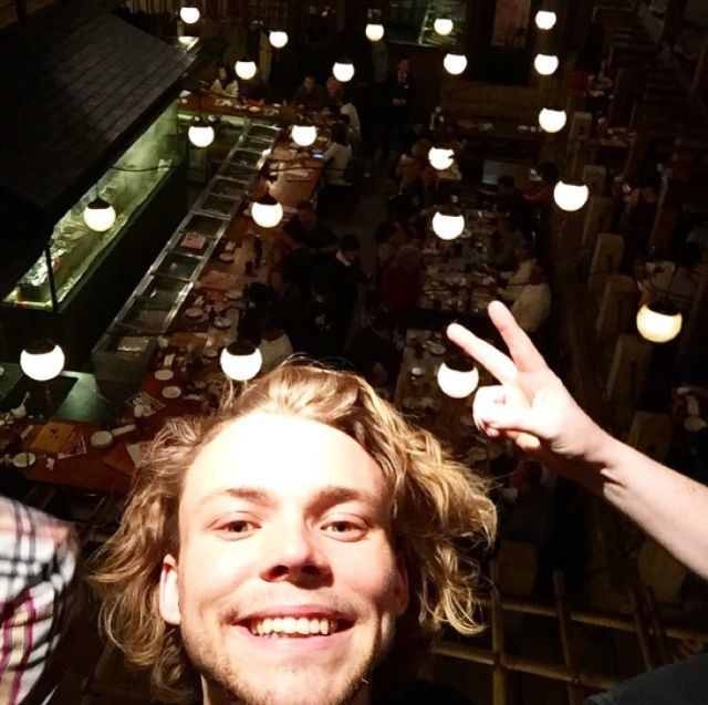 7. The time there was a sushi, a selfie and some fairy lights in a single snap.