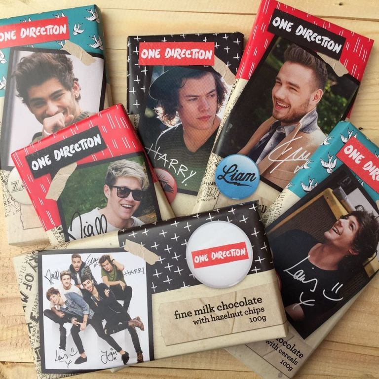 ONE DIRECTION CHOCOLATE BARS HAVE BEEN LAUNCHED IN THE