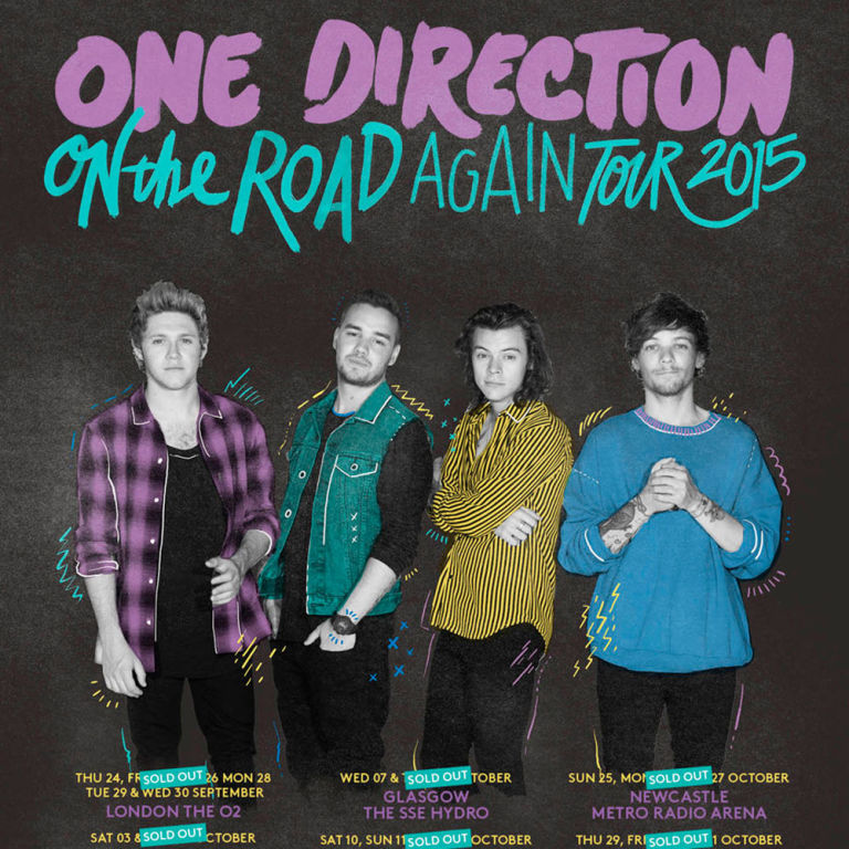 One Direction new On the Road Again tour promo poster