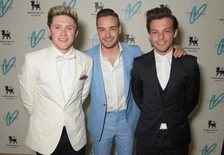 Liam Payne, Louis Tomlinson and Niall Horan at the Trekstock Great Gatsby Ball