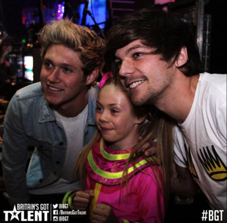 Louis Tomlinson and Niall Horan at BGT