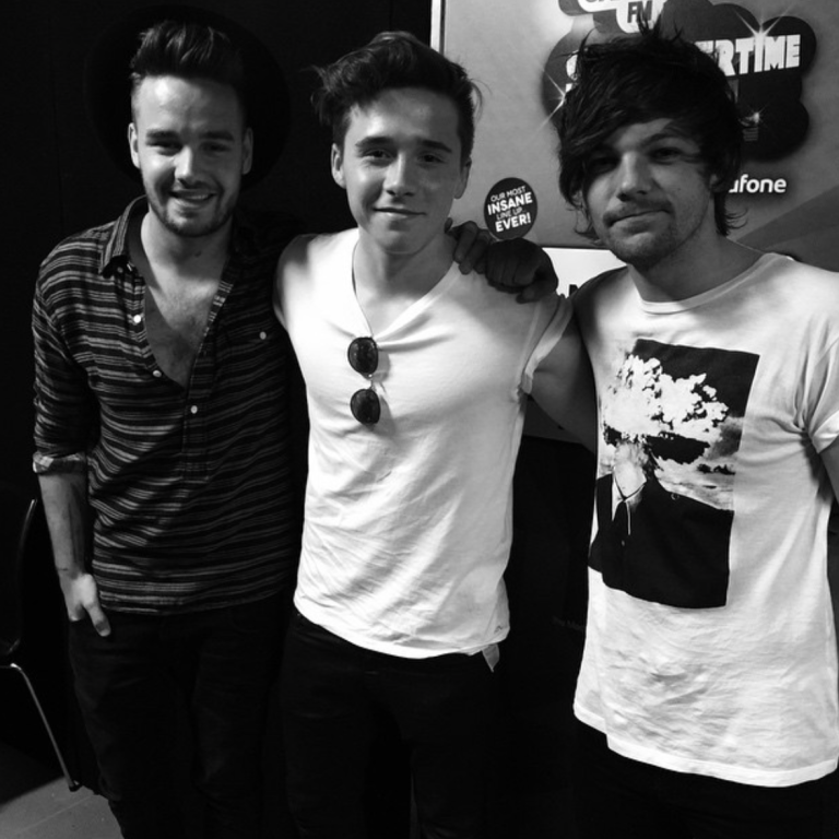 Brooklyn Beckham hangs out with One Direction at Capital FM's Summertime Ball.