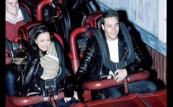 Liam Payne and Sophia Smith on a roller coaster - One Direction images - Sugarscape.com