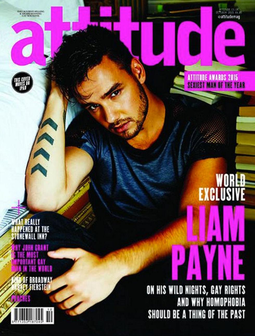 Liam Payne covers Attitude magazine